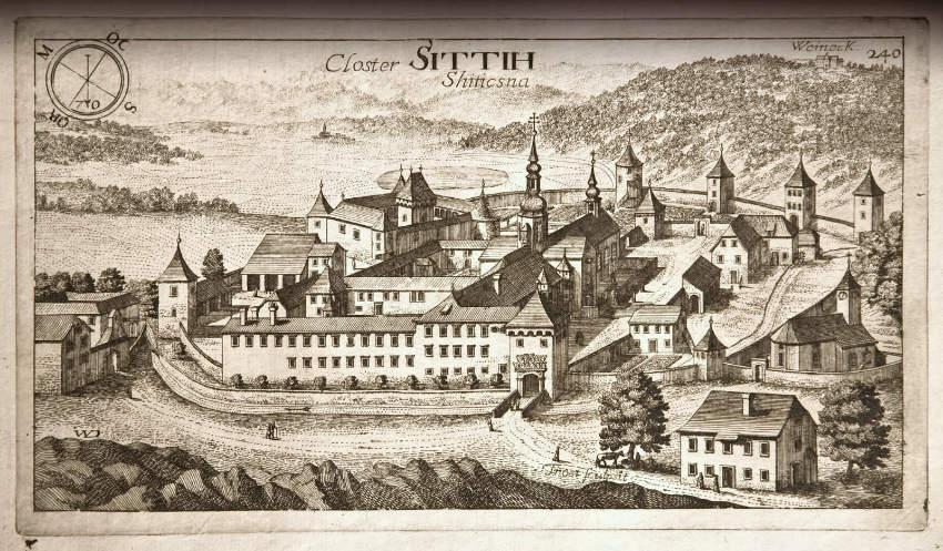 Stična, samostan Stična, Valvasor